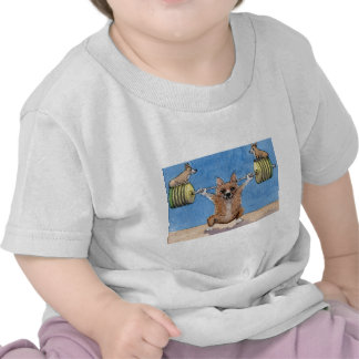 Levantamiento de pesas del Corgi Galés Camiseta