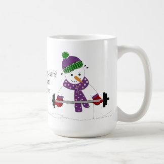 Levantamiento de pesas del muñeco de nieve con taza clásica