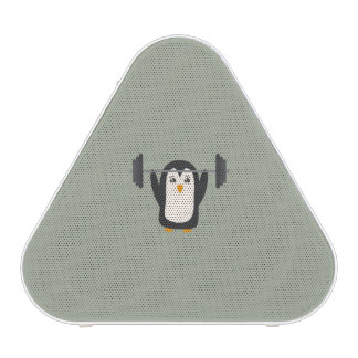 Levantamiento de pesas del pingüino altavoz bluetooth