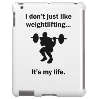 Levantamiento de pesas es mi vida funda para iPad