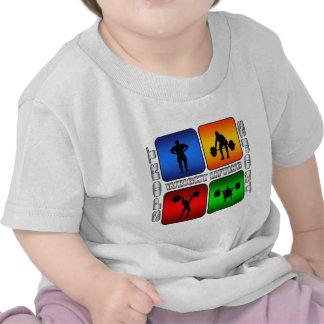 Levantamiento de pesas espectacular camisetas