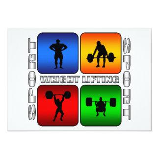 """Levantamiento de pesas espectacular invitación 5"""" x 7"""""""