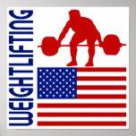 Levantamiento de pesas Estados Unidos Posters