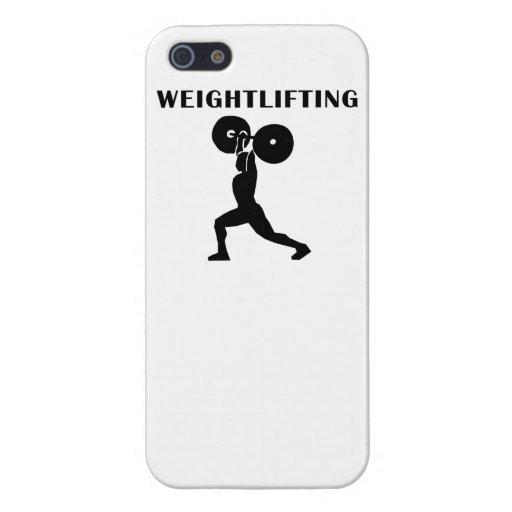 Levantamiento de pesas iPhone 5 fundas