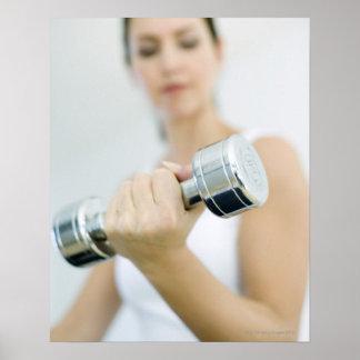 Levantamiento de pesas. Pesas de gimnasia de Póster