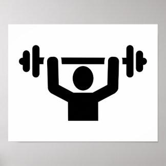 Levantamiento de pesas powerlifting póster