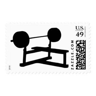 Levantamiento de pesas sello postal