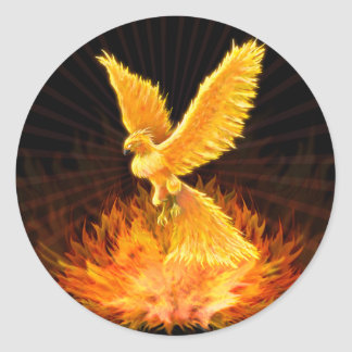 Levantamiento de Phoenix Etiqueta Redonda