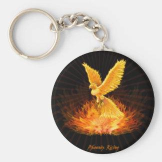Levantamiento de Phoenix Llavero Redondo Tipo Pin