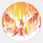 Levantamiento de Phoenix Pegatina Redonda