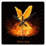 Levantamiento de Phoenix Reloj Cuadrado