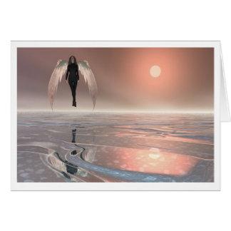 Levantamiento del ángel tarjeta pequeña