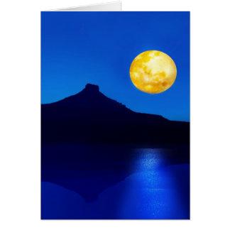 Levantamiento del claro de luna felicitaciones