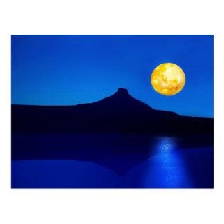 Levantamiento del claro de luna postal