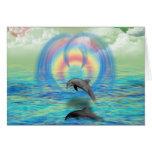 Levantamiento del delfín felicitacion