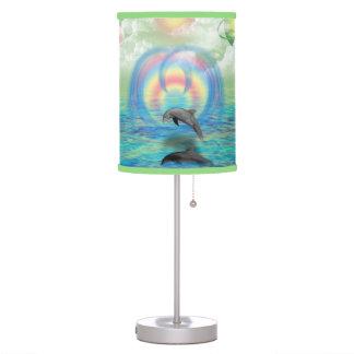 Levantamiento del delfín lámpara de escritorio