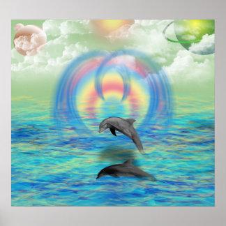 Levantamiento del delfín póster