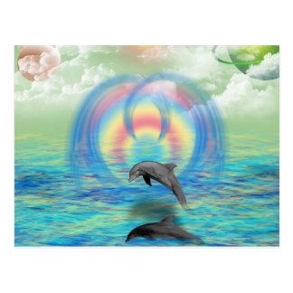 Levantamiento del delfín tarjeta postal