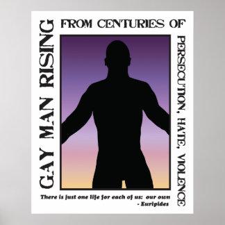 Levantamiento del hombre gay póster