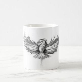 Levantamiento gris de Phoenix Taza Básica Blanca
