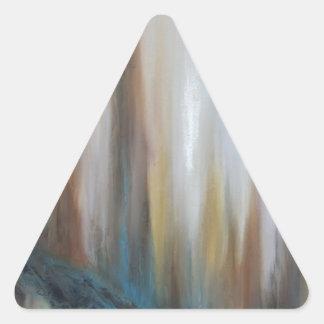 Levantamiento más allá pegatina triangular