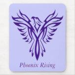 Levantamiento púrpura majestuoso de Phoenix Tapete De Ratones
