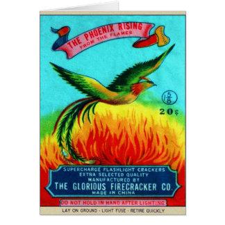 Levantamiento retro de Phoenix del petardo del kit Felicitación