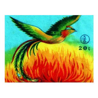 Levantamiento retro de Phoenix del petardo del kit Tarjeta Postal