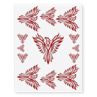 levantamiento Rojo-coloreado de Phoenix Tatuajes Temporales