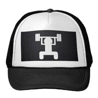 Levantamientos de la pesa de gimnasia mínimos gorras de camionero