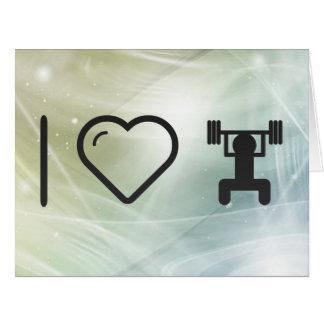 Levantamientos frescos de la pesa de gimnasia tarjeta de felicitación grande