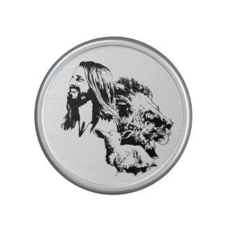 Levantando encima de Jesús, altavoz cristiano