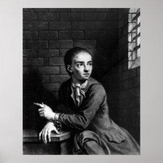 Levante a Sheppard, grabado por el blanco de Georg Poster