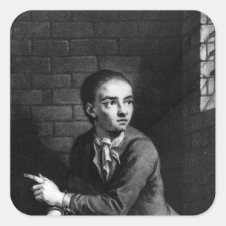 Levante a Sheppard, grabado por el blanco de Georg Pegatinas Cuadradases Personalizadas
