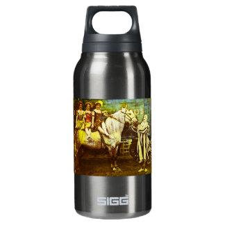 Levante el payaso y el circo del vintage del botella isotérmica de agua
