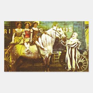 Levante el payaso y el circo del vintage del rectangular altavoz