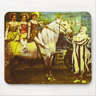 Levante el payaso y el circo del vintage del Queen Tapete De Raton