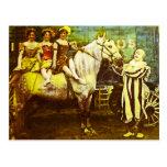 Levante el payaso y el circo del vintage del Queen Postal