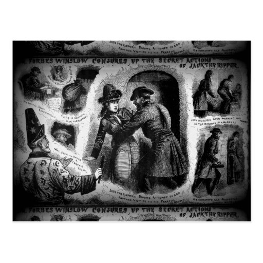 Levante las Noticias-Winslow Destripador-Ilustrada Tarjetas Postales
