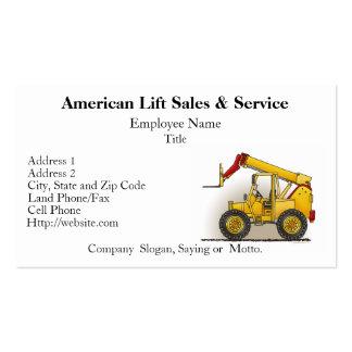 Levante las tarjetas de visita de construcción