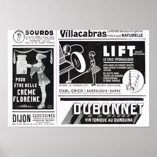 Levante, los anuncios de Dubonnet Impresiones