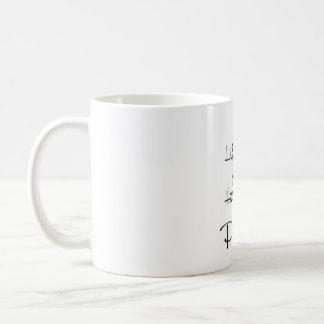 Levante para arriba sus corazones en alabanza taza de café