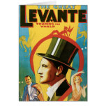 Levante ~ The Great Vintage Magic Act Greeting Cards