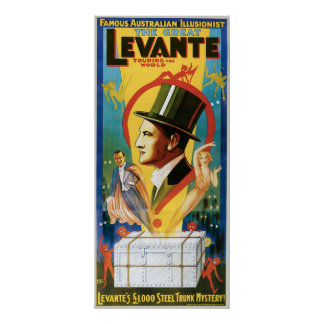 Levante ~ The Great Vintage Magic Act Poster