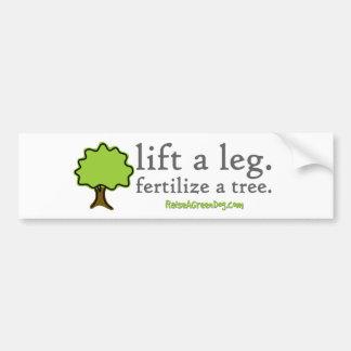 Levante una pierna. Fertilice un árbol. Pegatina p Pegatina Para Auto