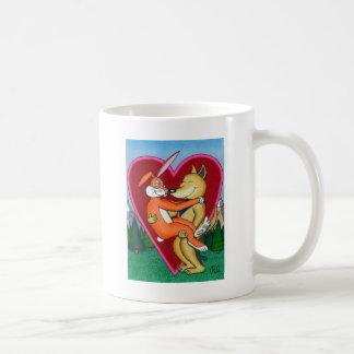 Levánteme para arriba en su corazón taza de café