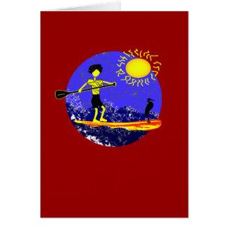 Levántese el diseño de la paleta tarjeta de felicitación