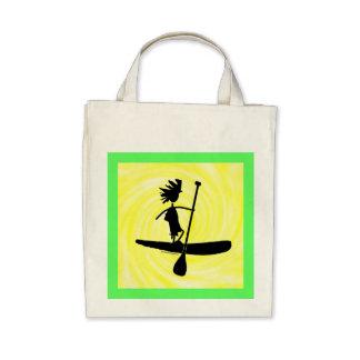 Levántese el diseño de la silueta de la paleta bolsas de mano