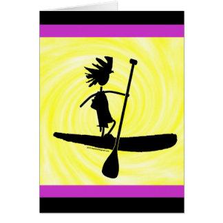 Levántese el diseño de la silueta de la paleta tarjeta de felicitación