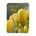 Levántese el tulipán imanes rectangulares